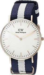 Daniel Wellington 丹尼尔•惠灵顿 Classic系列 玫瑰金表圈表扣 石英手表 女士腕表 尼龙表带