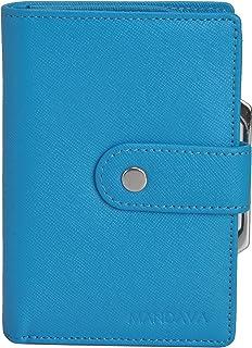 Mandava Genuine Safiano Leather Turquoise Ladies Wallet