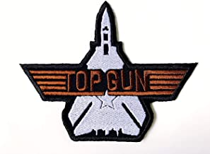 Top Gun Fighter US Navy Air Force Logo Biker Motorcycle Embroidered Sew on Iron on Patch for Backpacks Jackets Clothing etc