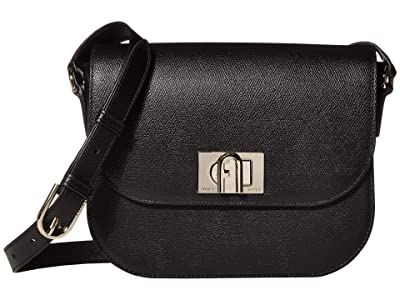 Furla 1927 Small Crossbody 23 (Nero) Handbags