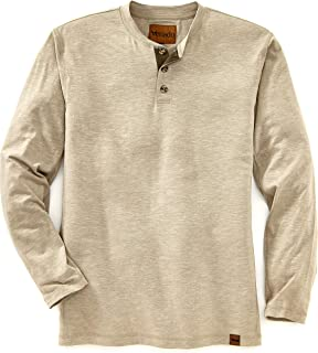 Henley Long Sleeve Shirts for Men - Mens Henley with Flex Material