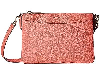 Kate Spade New York Margaux Medium Convertible Crossbody (Peachy) Handbags
