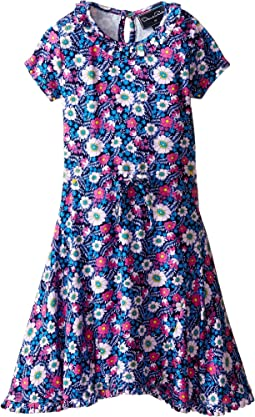 Oscar de la Renta Childrenswear - Blossom Vignette Jersey Dress (Toddler/Little Kids/Big Kids)