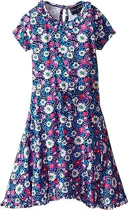 Oscar de la Renta Childrenswear Blossom Vignette Jersey Dress (Toddler/Little Kids/Big Kids)