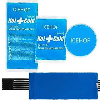 ICEHOF Koelpads (3x) met vlieshoes - incl. klittenband - knuffelzacht, lange koelduur, koelpack gel koelelement koelgel ko...