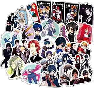 Anime Cool Cartoon Stickers Decal 50 Pcs/Pack Waterproof Vinyl Durable Trendy Aesthetics Stickers Bomb for Laptop Water Bo...