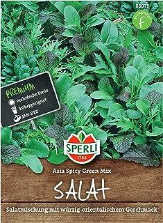 Sperli Premium Asia Salat   Asia Spicy Green Mix   4 Sorten   Asia Salat Samen   winterhart ganzjährig