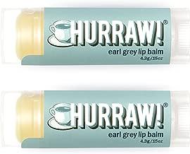 Hurraw Earl Grey Lip Balm, 2 Pack