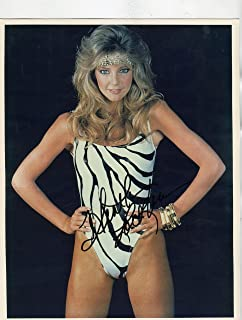 HEATHER LOCKLEAR very sexy 80`s swimsuit signed 8x10 photo / UACC Registered Dealer # 212