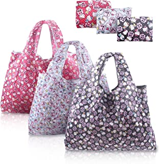Finex - Set of 3 - Hello Kitty Foldable Reusable Tote Recycle Shopping Bag - lightweight