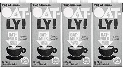 Oatly Original Oat Drink 1 Litre (Pack of 4), Barista Edition