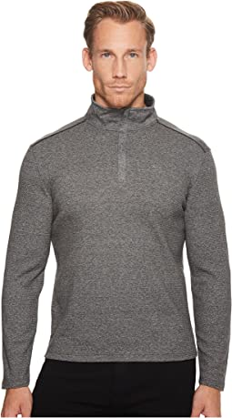 Jacquard Mock Neck 1/4 Zip Sweater