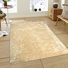 Saral Home Soft Heavy Duty Saggy Carpet for Living Room -150x210 cm, Ivory