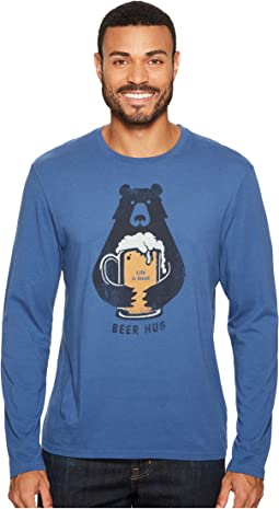 Life is Good - Beer Hug Long Sleeve Smooth Tee