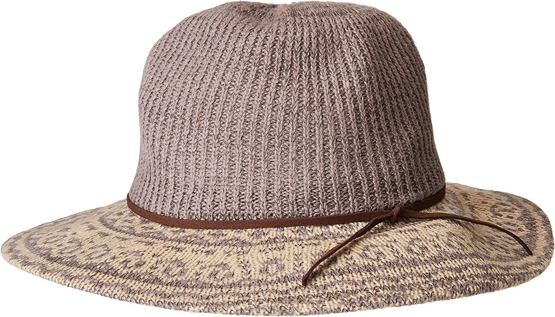 San Diego Hat Company Women's Ranking TOP6 3.25 Faux with Brim Sale price Knit Su Fedora
