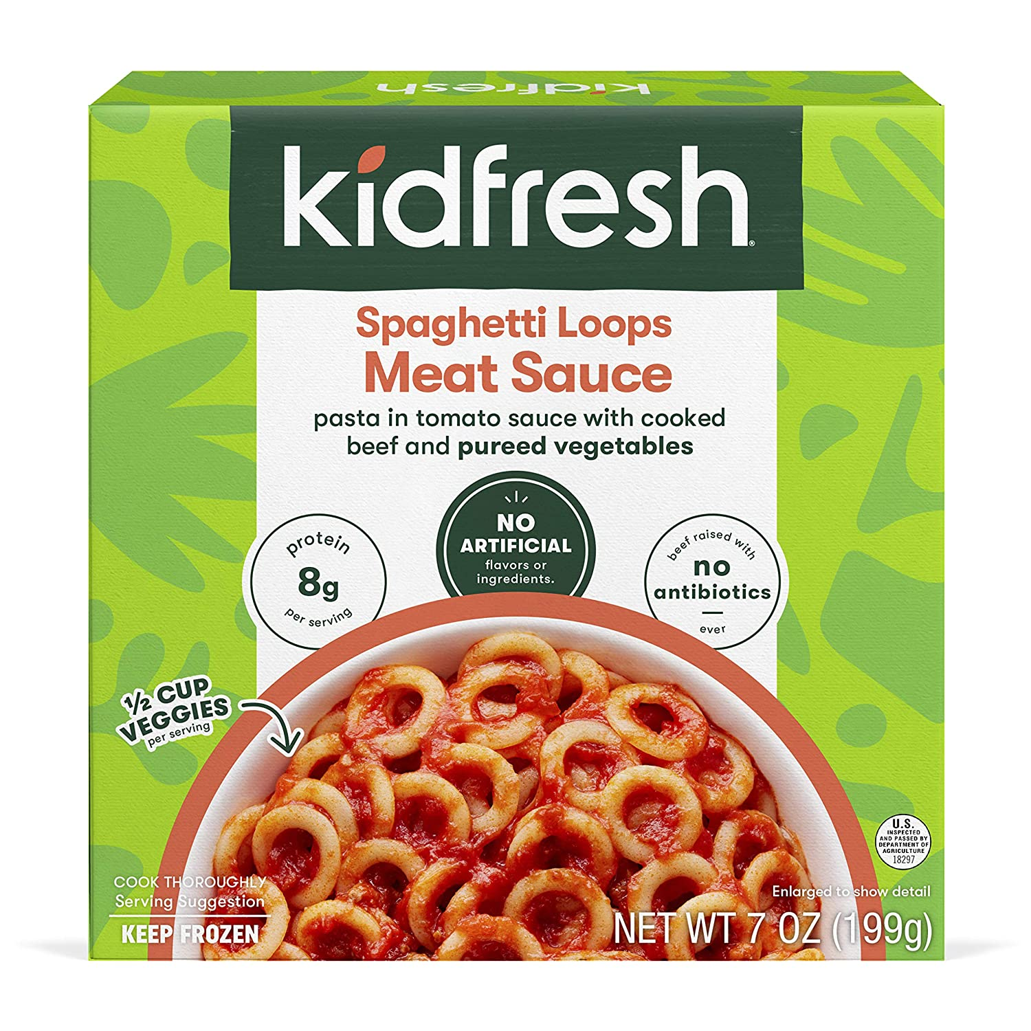 Kidfresh Free shipping on posting reviews Spaghetti shopping Loops Meat Sauce an Veggies with Hidden Made