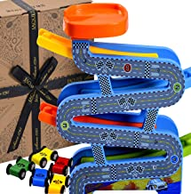 Jaques of London Wooden Toys Carpark Perfect toddler toys for 1 2 3 4 year olds – Includes Toy cars, Speed Ramps and Racetrack. Perfect Toddler Toys.
