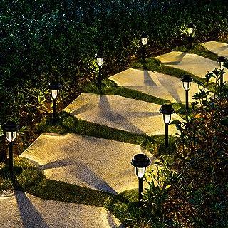 GIGALUMI Solar Pathway Lights Outdoor, 8 Pack Wireless LED Solar Garden Lights, Waterproof Solar Path Lights for Outdoor P...