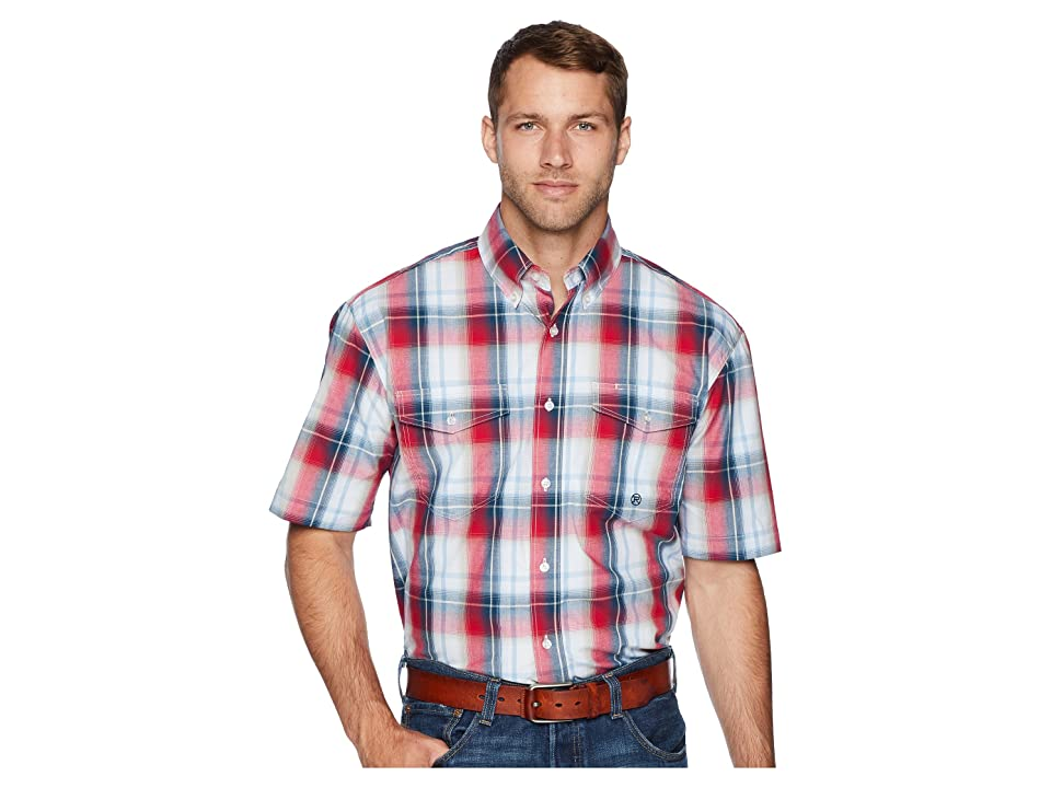 Roper 1679 Independence Plaid (Red) Men
