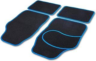 Cartrend 10599 Universal Teppich Matten Stoffmatten Autoteppiche Fussmatten Auto 4 teilig, Hochglanzgarn, Textilmatte Basic blau