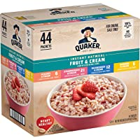 Deals on 44-Ct Quaker Instant Oatmeal Fruit & Cream Variety Pack