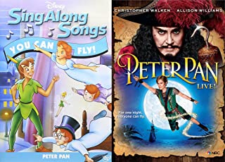 Sing With Peter Pan DVD Bundle - Disney Sing Along Songs: You Can Fly Peter Pan & Peter Pan LIVE (Gift set) 2 Movie DVD Bundle