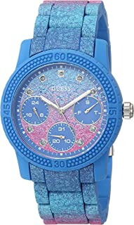 GUESS Women's Quartz Watch with Silicone Strap, Blue, 10 (Model: U0944L2)