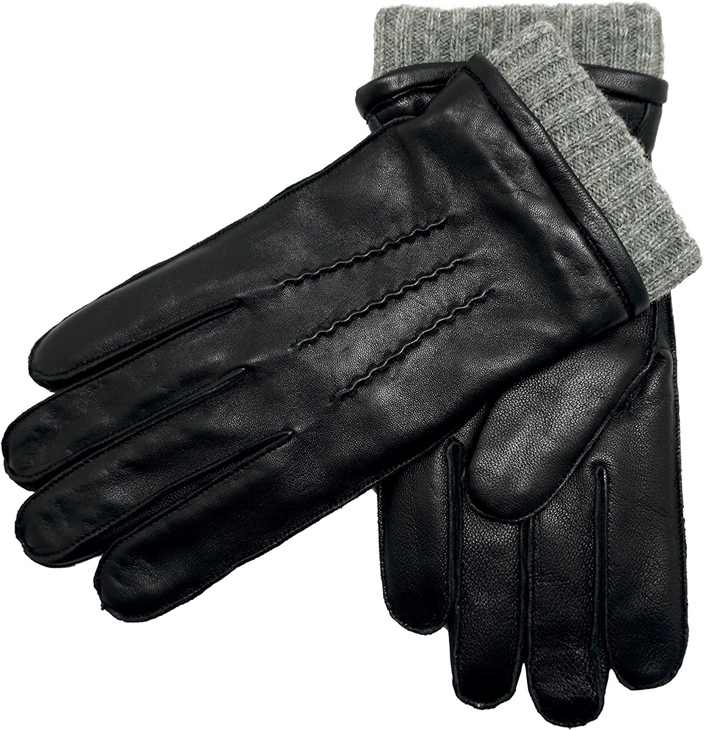 YISEVEN Winter Limited price Men's Latest item Three Point Leather Sheepskin Glo Warm