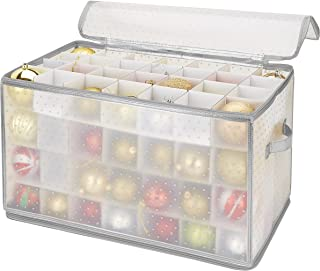 Simplify Ornament Storage, 112-Count, 112-Count-Silver, Silver