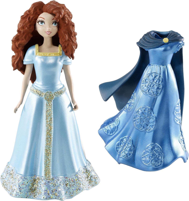 Mattel Disney Princess X4946 - Merida Minipuppe, inklusive 2 Outfits aus dem Film