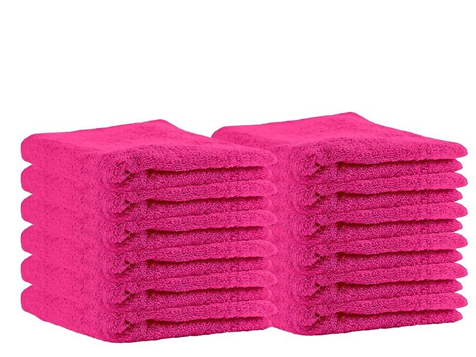 終わったロープ感情のPuffyコットンラグジュアリーバスタオルタオルセット( 12パック、13?x 13インチ)多目的Extraソフト指先タオル、スーパー吸収性面Cloths、洗濯機洗い可能、スポーツ、ワークアウトタオル 13