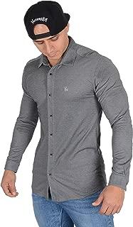 YoungLA Men's Dress Shirt Athletic Slim Fit Long Sleeve Button Down 415