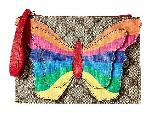 9b57fc5846ecf9 Gucci Kids GG Butterfly Clutch (Little Kids/Big Kids) at Luxury ...