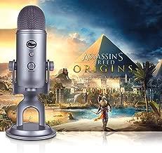 Blue Condenser Microphone, Cool Grey, Mic + Assassin's Creed Origins Streamer Bundle (988-000106)