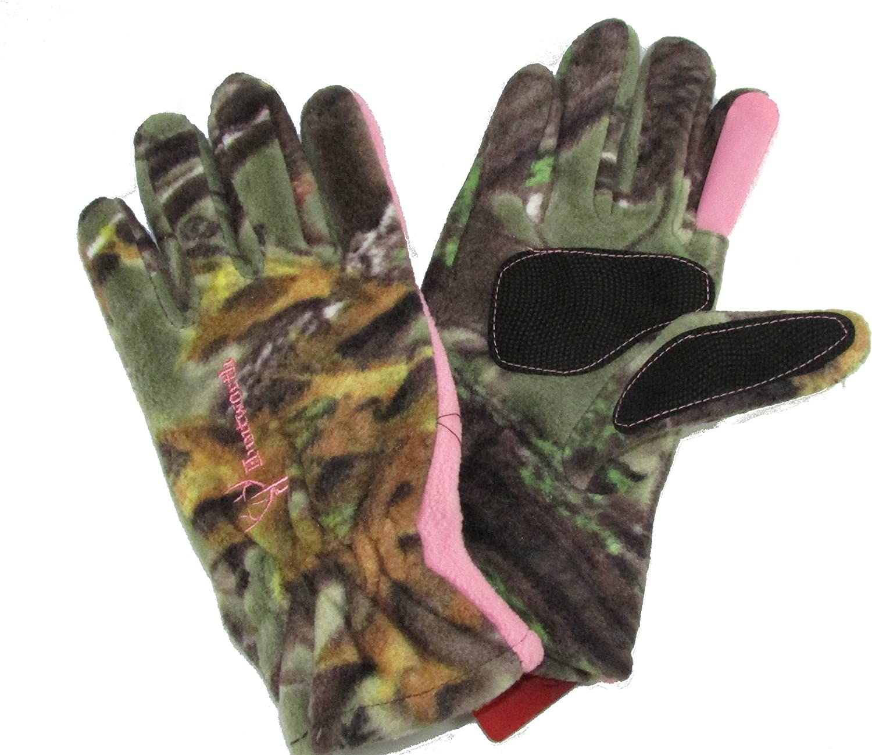 Huntworth Fleece Ladies Hunting Glove Pink Camo