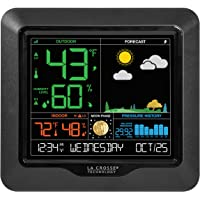 La Crosse Technology S84107 Color Forecast Station with Barometric Pressure Historical Graph (Black)