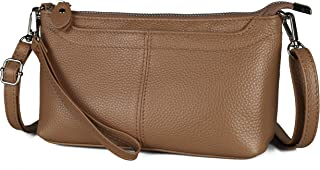 Befen Women's Leather Wristlet Mini Crossbody Bag, Small Shoulder Bag Clutch Purse with Card Slots