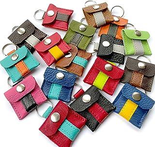 Halsbandtasche aus Leder für Hundemarke, Steuermarke, Tassomarke, Einkauschip | Ring Aufbewahrung | Viele Farbkombinatione...