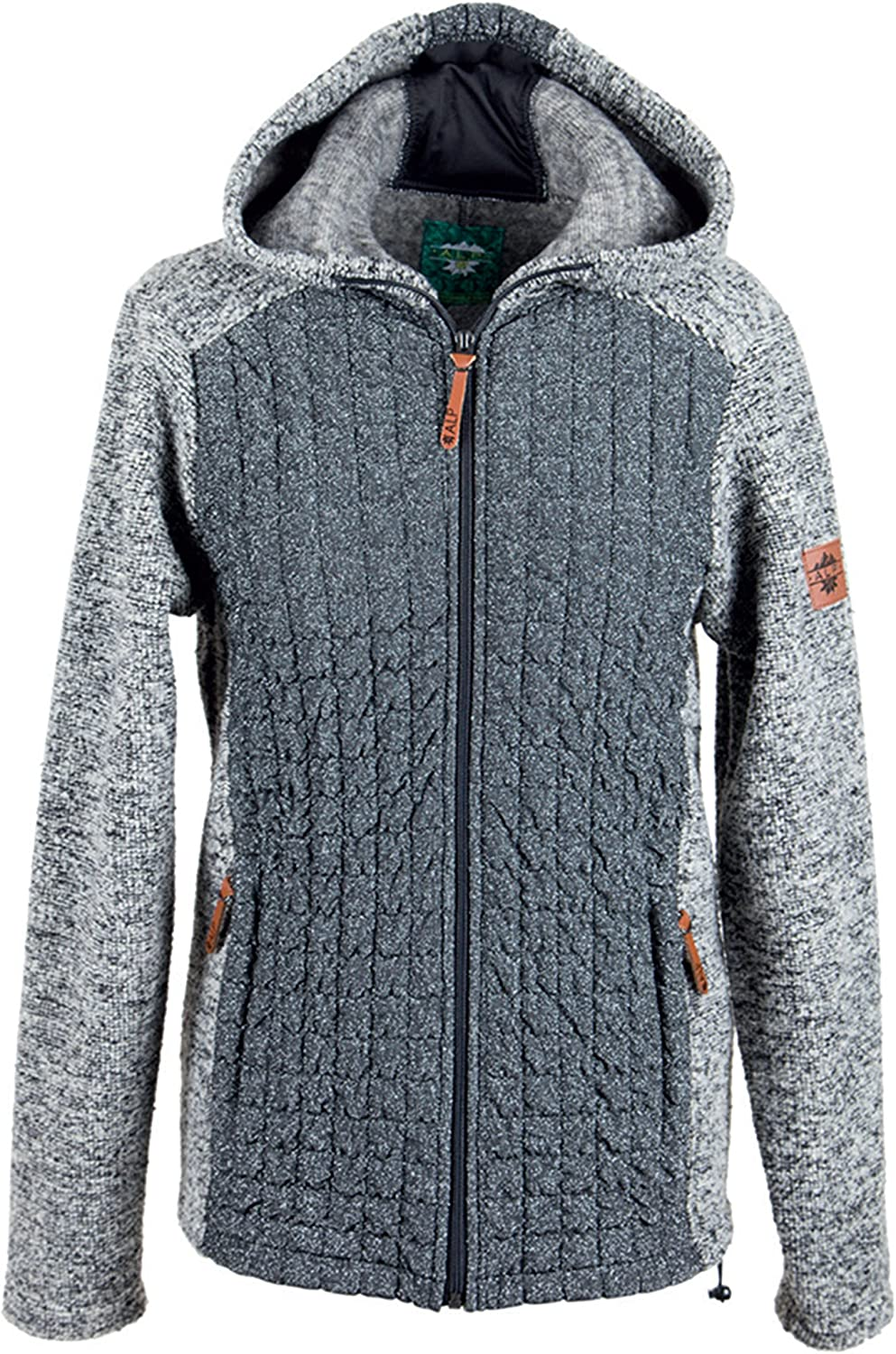 Alp by Brush Ladies WoolMix Jacket with Hood and LurexQuilt