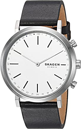 Skagen Womens Hald Hybrid Smartwatch Black Leather SKT1205