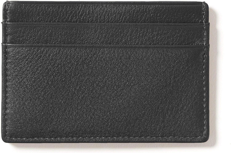 Leatherology Black Onyx Men's Slim Credit Card Case Wallet - RFID Available