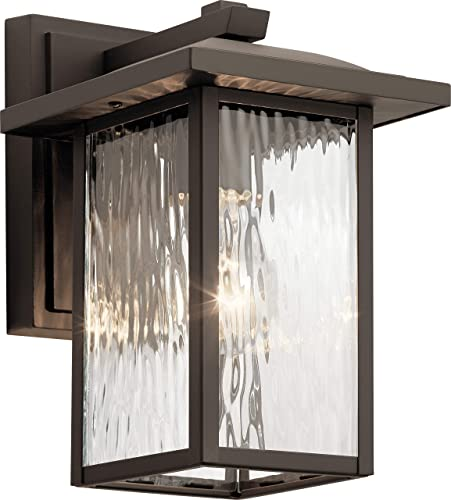 lowest Kichler online 49924OZ Capanna Outdoor Wall Sconce, 1-Light 60 Watts, Olde high quality Bronze outlet sale