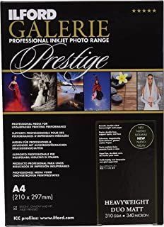 ILFORD Galerie Prestige Heavyweight Duo May–Photo Paper Double Sided, 310g, 50Sheets A4