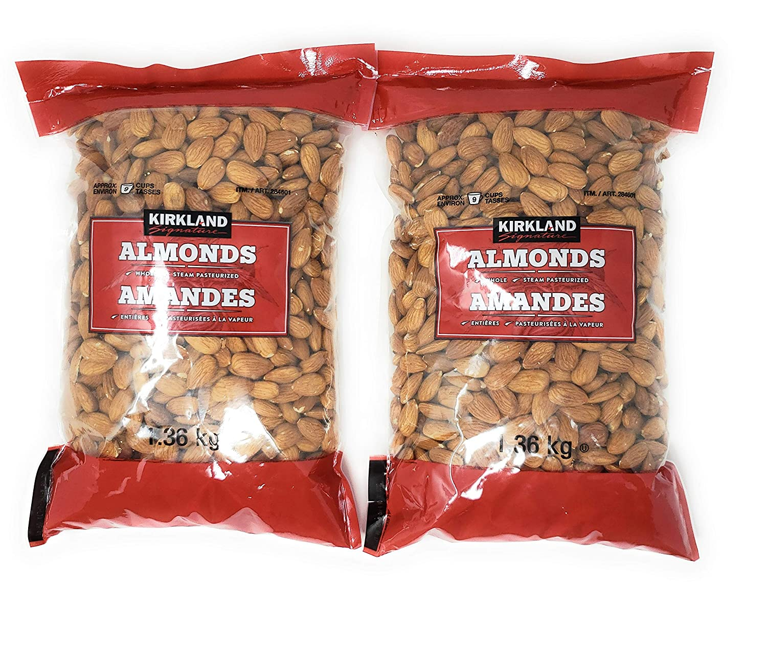 Kirkland Free Shipping Cheap Bargain Gift Max 75% OFF Signature Supreme Whole Almonds 3 Pounds Pack 2