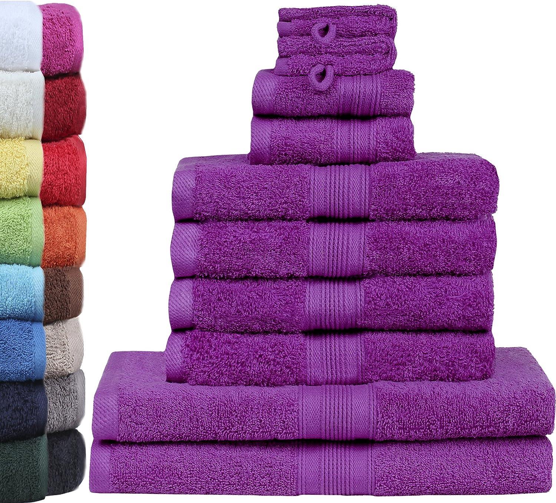 Coton GREEN MARK Textilien /® Lot de 2 Serviettes de Bain XXL 150 x 100 cm 2er Pack Badetuch 150x100 cm Bleu Roi