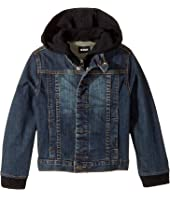 Hudson Kids - Hoodie Jean Jacket (Toddler/Little Kids/Big Kids)
