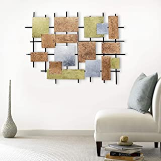 Craftter Colorful Patches Extra Large Metal Wall Art Sculpture Home Décor Wal Hanging