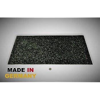 Bautenschutzmatte Gummigranulatmatte Kofferraummatte Bodenschutzmatte Bodenbelag Gummi Gummimatte Anti-Vibrationsmatte Antirutschmatte 400 x 60 x 0,5 cm lfd. Gummimatte Meterware schwarz