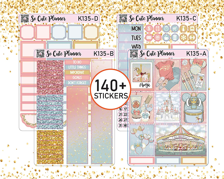 Magic Carrousel Planner Spring new work stickers Weekly Kit Regular discount for Set Condren Erin