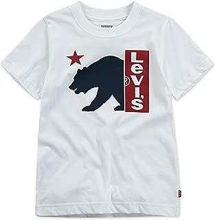 Levi's Boys' Little Graphic T-Shirt, White Bear Logo, 7